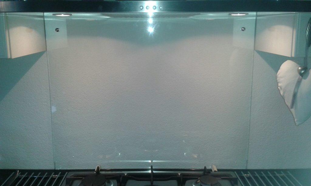 foto hardglas keuken mat