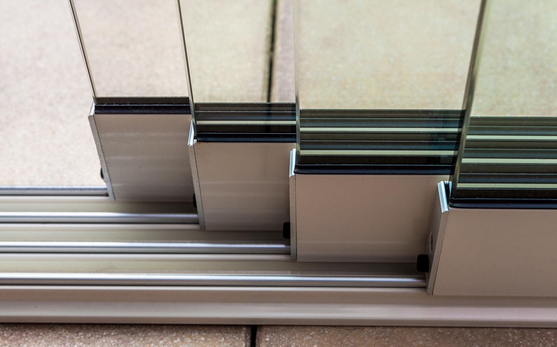 Railsysteem glazen schuifwand Fiano