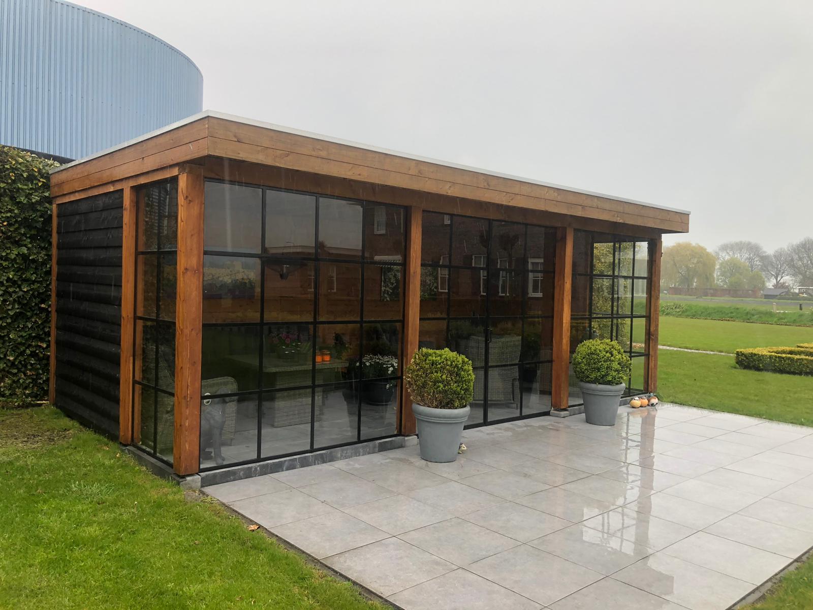 tuinhuis van glas